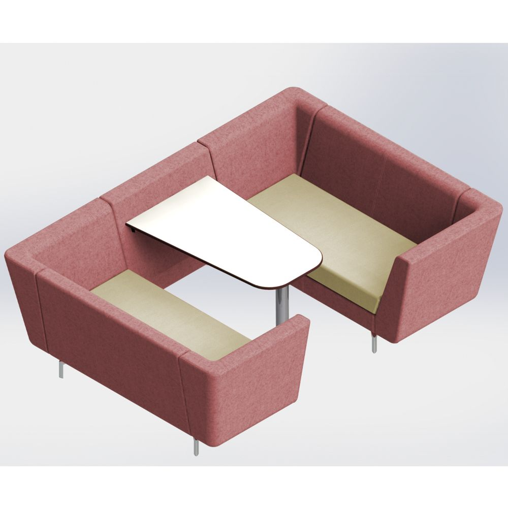 Lilo 4 Seater Booth - Summit Seating